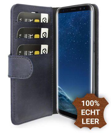 Valenta Classic Luxe Galaxy S8 Plus Hoesje Leer Bookcase Vintage Blauw