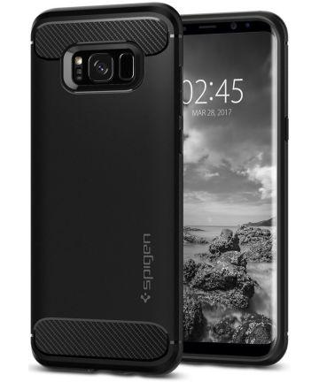 Spigen Rugged Armor Samsung Galaxy S8 Zwart Hoesjes