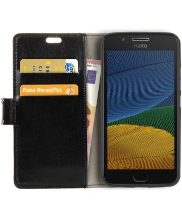 Motorola Moto G5 Hoesje Book Cover Zwart Hoesjes
