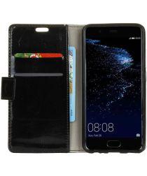 Huawei P10 Portemonnee Hoesje Zwart