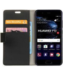 Huawei P10 Stijlvol Portemonnee Hoesje Zwart