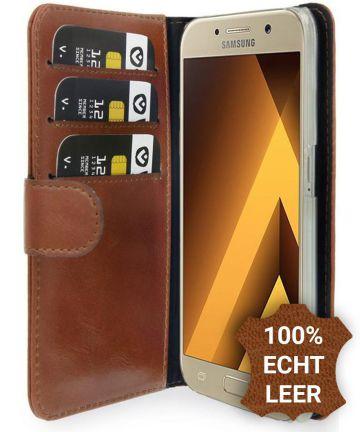 Valenta Classic Luxe Samsung Galaxy A3 2017 Hoesje Leer Bookcase Bruin