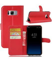 Samsung Galaxy S8 hoesje met kaarthouder Rood