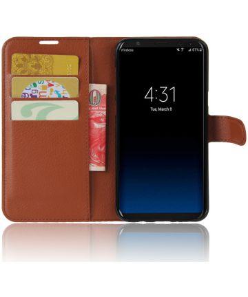Samsung Galaxy S8 hoesje met kaarthouder Bruin