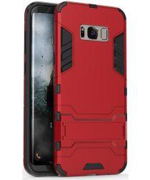 Hybride Samsung Galaxy S8 Hoesje Rood