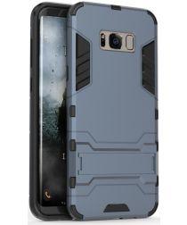 Hybride Samsung Galaxy S8 Hoesje Donker Blauw