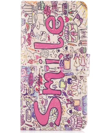 Samsung Galaxy S8 Portemonnee Print Hoesje Smile