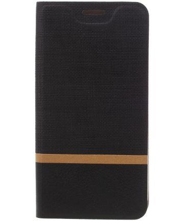 Samsung Galaxy A5 (2017) Portemonnee Stripe Hoesje Zwart