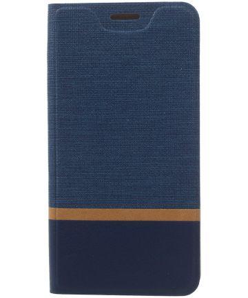 Samsung Galaxy A5 (2017) Portemonnee Stripe Hoesje Blauw