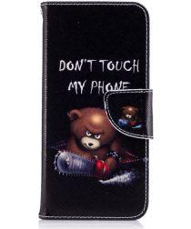 Samsung Galaxy S8 Portemonnee Print Hoesje Teddy