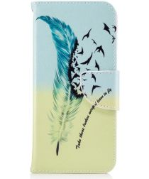 Samsung Galaxy S8 Portemonnee Print Hoesje Feather