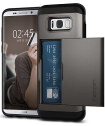 Spigen Slim Armor Card Slot Samsung Galaxy S8 Gun Metal