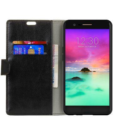 LG K10 (2017) Portemonnee Hoesje met Standaard Zwart