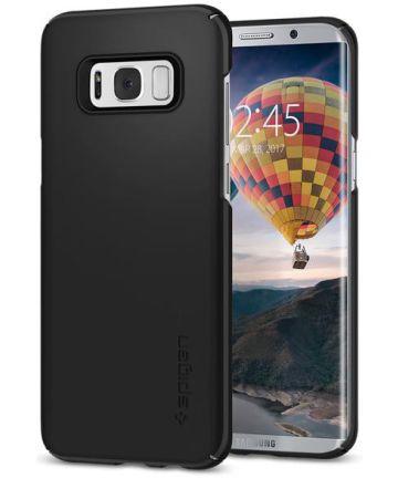 Spigen Thin Fit Case Samsung Galaxy S8 Plus Zwart Hoesjes