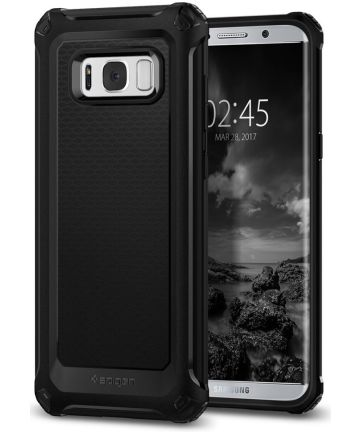 Spigen Rugged Armor Extra Galaxy S8 Plus Hoesje Zwart