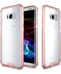 Samsung Galaxy S8 Plus Hoesje Armor Backcover Transparant Rose Gold