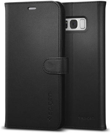 Spigen Wallet S Flip Hoesje Samsung Galaxy S8 Plus Zwart