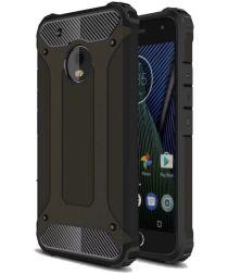 Motorola Moto G5 Plus Hybride Hoesje Zwart