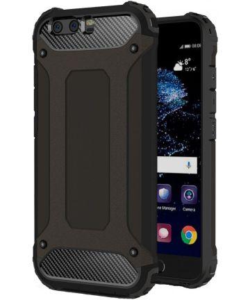 Huawei P10 Hybride Hoesje Zwart Hoesjes