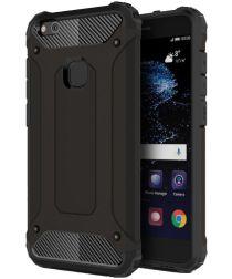 Huawei P10 Lite Hybride Hoesje Zwart