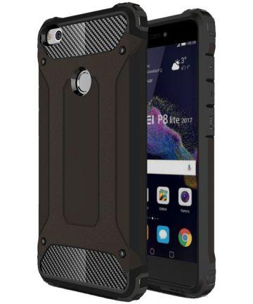 Huawei P8 Lite 2017 Hybride Hoesje Zwart Hoesjes