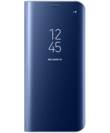 Samsung Galaxy S8 Clear View Flip Case Blauw