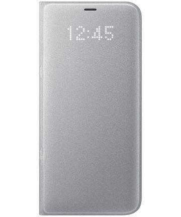 Samsung Galaxy S8 Plus Led View Hoesje Zilver Origineel