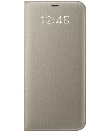 Samsung Galaxy S8 Plus Led View Hoesje Goud Origineel