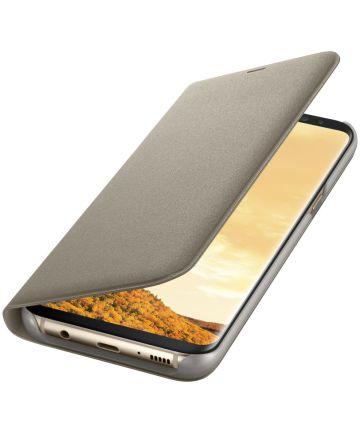Origineel Samsung Galaxy S8 Plus Hoesje LED View Cover Goud Hoesjes