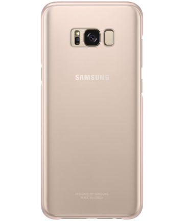 Samsung Galaxy S8 Plus Clear Cover Roze Origineel Hoesjes