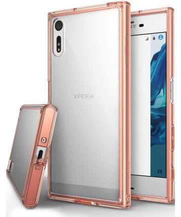 Ringke Fusion Sony Xperia XZ / XZs Hoesje Rose Gold