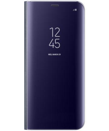 Samsung Galaxy S8 Plus Clear View Flip Case met Standaard Paars