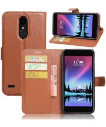 LG K10 (2017) Wallet Case Bruin