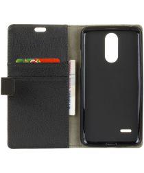 LG K8 (2017) Wallet Hoesje Zwart
