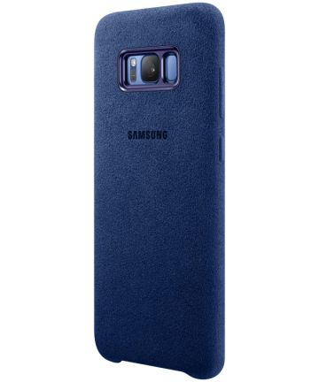 Samsung Galaxy S8 Plus Alcantara Cover Blauw Origineel