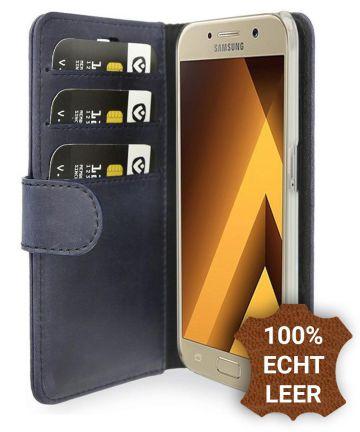 Valenta Classic Luxe Samsung Galaxy A5 2017 Hoesje Leer Bookcase Blauw