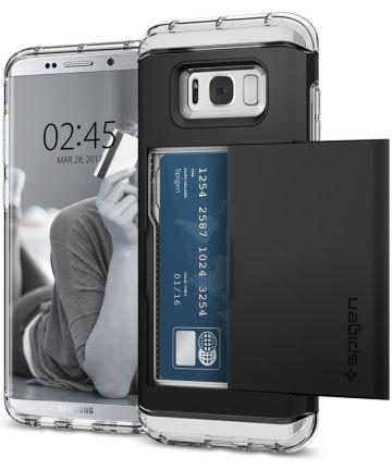 Spigen Crystal Wallet Hoesje Samsung Galaxy S8 Plus Zwart