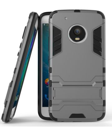 Motorola Moto G5 Plus Hybride Kickstand Grijs