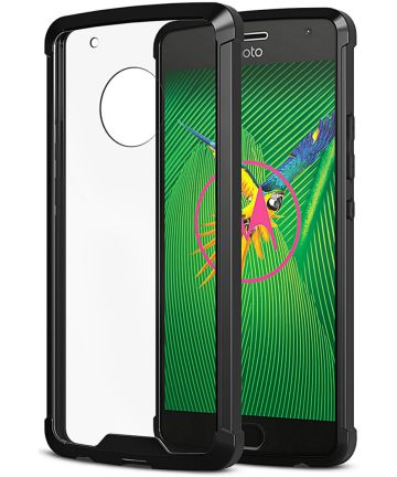 Motorola Moto G5 Plus Hoesje Armor Backcover Zwart