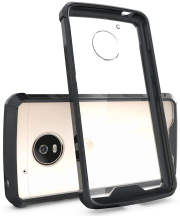 Motorola Moto G5 Hoesje Armor Backcover Zwart