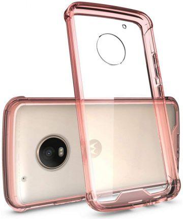 Motorola Moto G5 Plus Hoesje Armor Backcover Roze