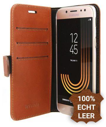 Valenta Luxe Samsung Galaxy J5 2017 Hoesje Leer Bookcase Bruin