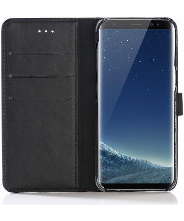Samsung Galaxy S8 Portemonnee Hoesje met Standaard Zwart Hoesjes