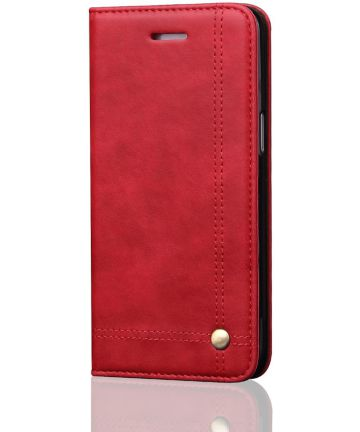 Samsung Galaxy S8 Vintage Portemonnee Hoesje Rood