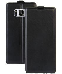 Samsung Galaxy S8 Verticaal Fliphoesje Zwart