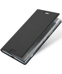 Dux Ducis Sony Xperia XZ Premium Bookcase Hoesje Grijs