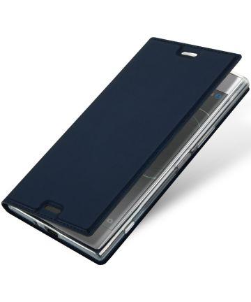 Dux Ducis Sony Xperia XZ Premium Bookcase Hoesje Blauw Hoesjes