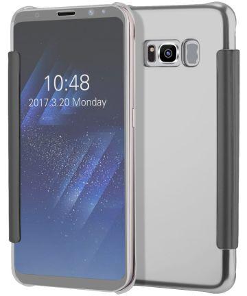 Samsung Galaxy S8 Spiegel Book Case Zilver Hoesjes