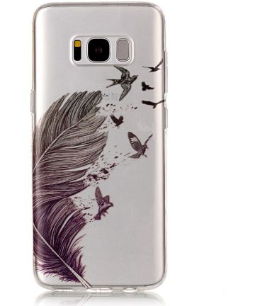 Samsung Galaxy S8 TPU Back Cover Feathers Hoesjes
