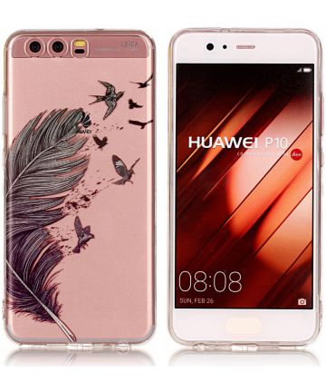 Hauwei P10 TPU Back Cover Feathers